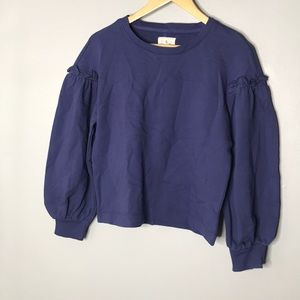 Lou&Grey Blue Sweater Size S NWT